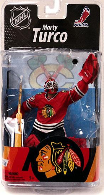 McFarlane Toys NHL Chicago Blackhawks Sports Picks Series 27 Marty Turco Action Figure [Red Jersey]