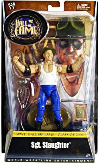 WWE Wrestling Hall of Fame Sgt Slaughter Exclusive Action Figure