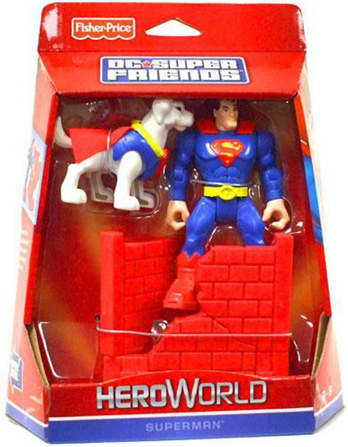 Fisher Price DC Super Friends Hero World Superman Action Figure