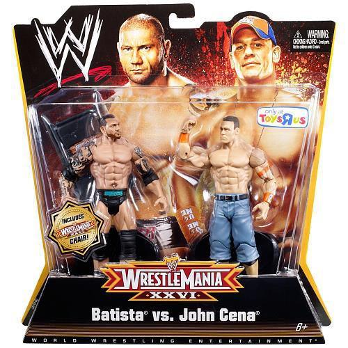 WWE Wrestling WrestleMania 26 Batista vs. John Cena Exclusive Action Figure 2-Pack