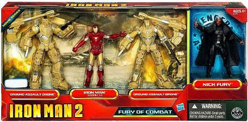 Iron Man 2 Fury of Combat Exclusive Action Figure 4-Pack
