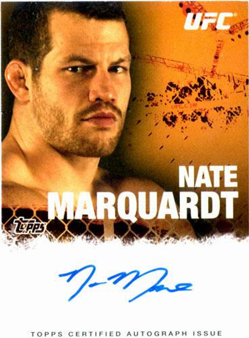 UFC 2010 Championship Nate Marquardt Autograph Card FA-NM