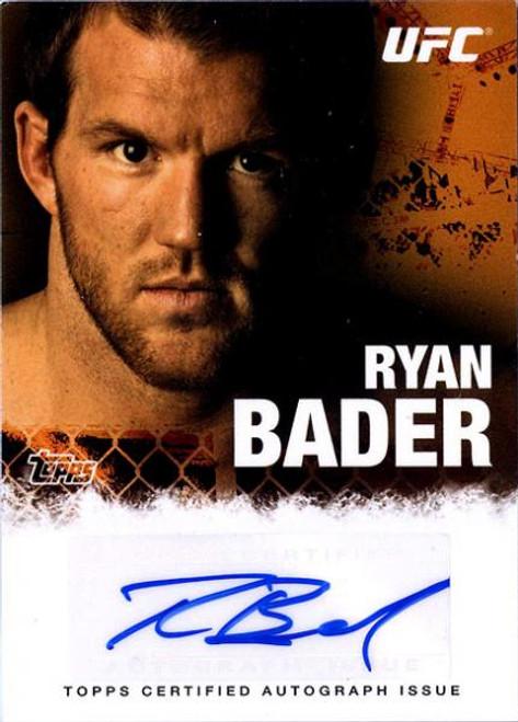 UFC 2010 Championship Ryan Bader Autograph Card FA-RB