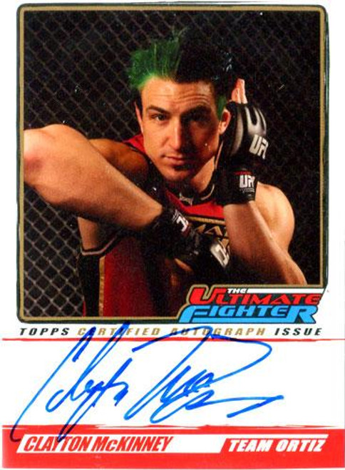 UFC 2010 Championship The Ultimate Fighter Autograph Clayton McKinney TUF-CM