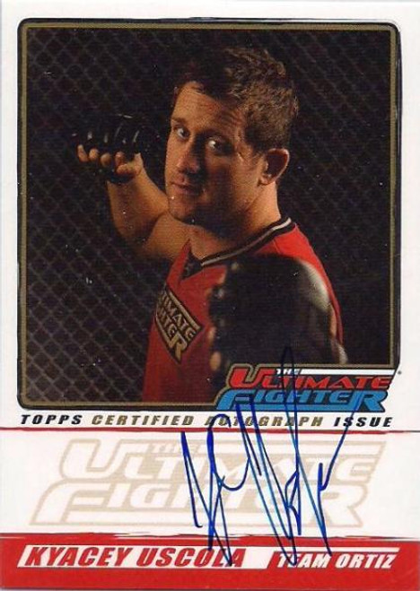 UFC 2010 Championship The Ultimate Fighter Autograph Kyacey Uscola TUF-KU