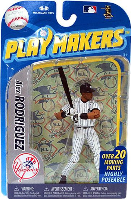 McFarlane Toys MLB New York Yankees Playmakers Series 2 Alex Rodriguez Action Figure [Batting]