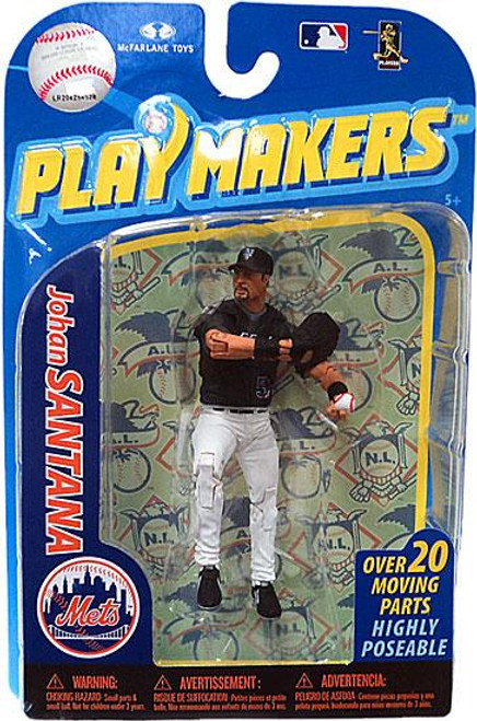 McFarlane Toys MLB New York Mets Playmakers Series 2 Johan Santana Action Figure