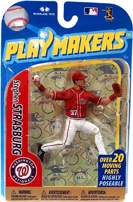 McFarlane Toys MLB Washington Nationals Playmakers Series 2 Stephen Strasburg Action Figure