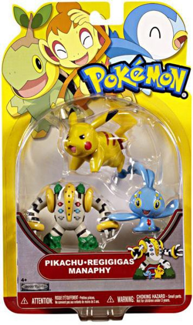 Pokemon HeartGold & Soulsilver Series 18 Pikachu, Regigigas & Manaphy Figure 3-Pack