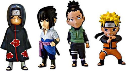 Naruto Shippuden Minininja Set of 4 Mininja 3-Inch PVC Figures
