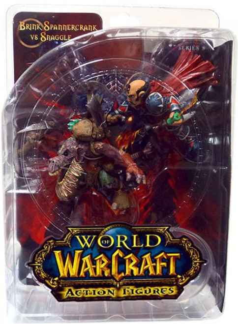 World of Warcraft Series 8 Brink Spannercrank Vs. Kobold Miner Action Figure 2-Pack [Gnome Rogue]