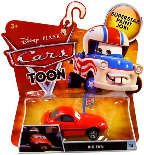 Disney Cars Cars Toon Main Series Big Fan Diecast Car #15