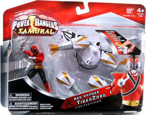 Power Rangers Samurai Red Ranger TigerZord Action Figure [Fire]