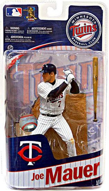 McFarlane Toys MLB Minnesota Twins Sports Picks Series 27 Joe Mauer Action Figure #7 [White Jersey #7]