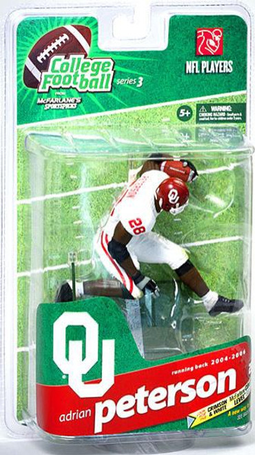 McFarlane Toys NCAA College Football Sports Picks Series 3 Adrian Peterson Action Figure [White Jersey]