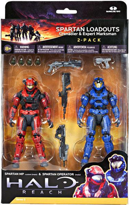 McFarlane Toys Halo Reach Series 3 Spartan Loadouts Action Figure 2-Pack
