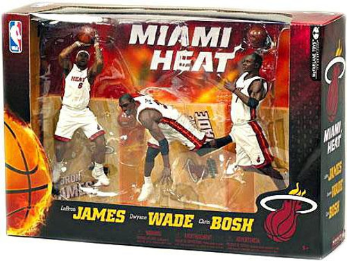 McFarlane Toys NBA Sports Picks 3-Packs Miami Heat Action Figure 3-Pack [White Jerseys]