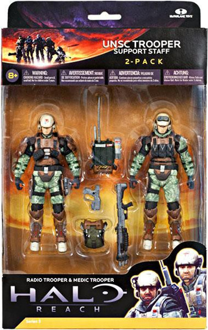 McFarlane Toys Halo Reach Series 3 UNSC Trooper Support Staff Action Figure 2-Pack