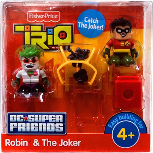 Fisher Price Trio DC Super Friends Robin & The Joker Minifigure 2-Pack