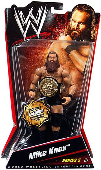WWE Wrestling Series 5 Mike Knox Action Figure [With Belt]