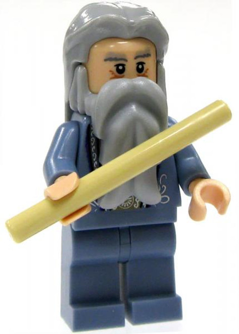 LEGO Harry Potter Loose Albus Dumbledore Minifigure #1 [With Tan Wand Loose]