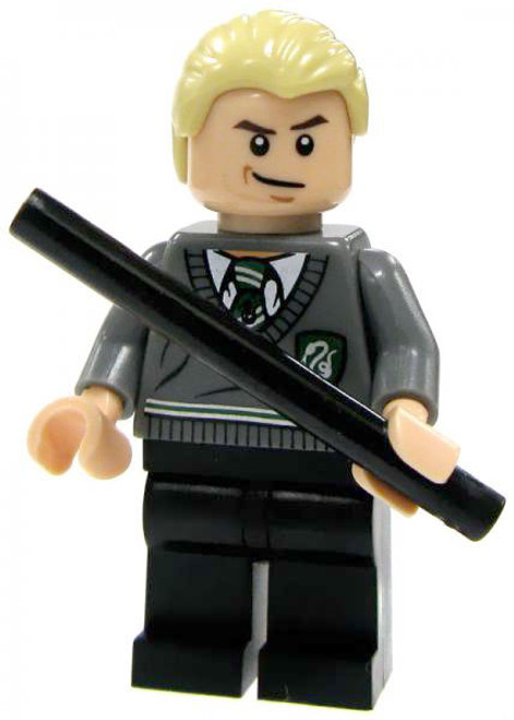 LEGO Harry Potter Loose Draco Malfoy Minifigure #1 [Slytherin Uniform Loose]