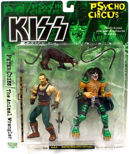 McFarlane Toys KISS Psycho Circus Peter Criss & The Animal Wrangler Action Figure 2-Pack