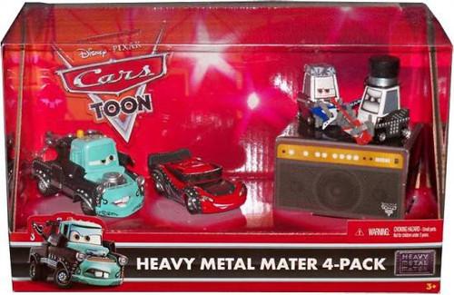 Disney Cars Cars Toon Multi-Packs Heavy Metal Mater 4-Pack Exclusive Diecast Car Set