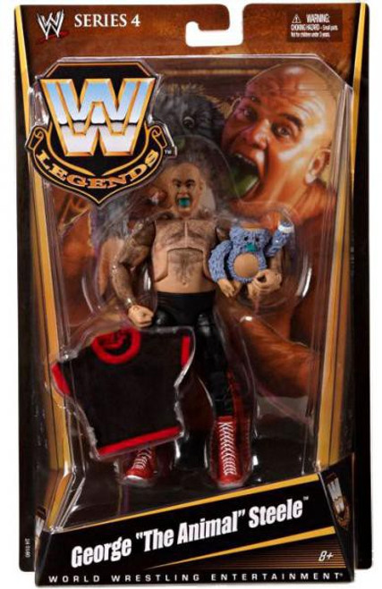 "WWE Wrestling Legends Series 4 George ""The Animal"" Steele Action Figure"