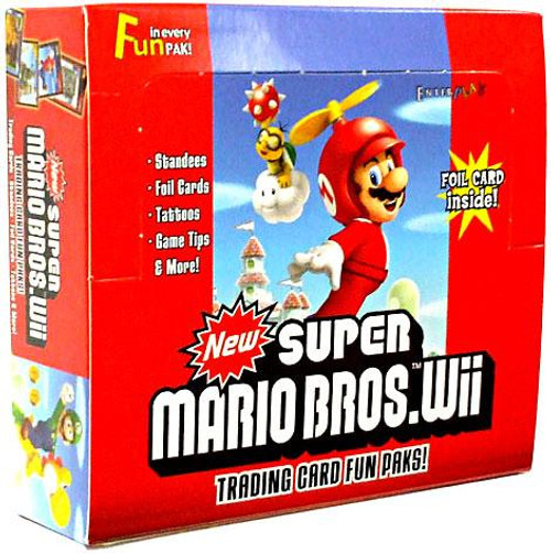 New Super Mario Bros Wii Trading Card Box
