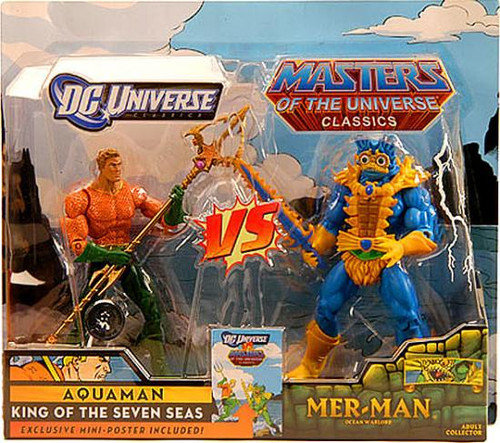 DC / Masters of the Universe Classics Club Eternia Aquaman Vs. Mer-Man Exclusive Action Figures