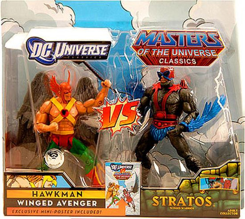 DC / Masters of the Universe Classics Club Eternia Hawkman vs. Stratos Exclusive Action Figures
