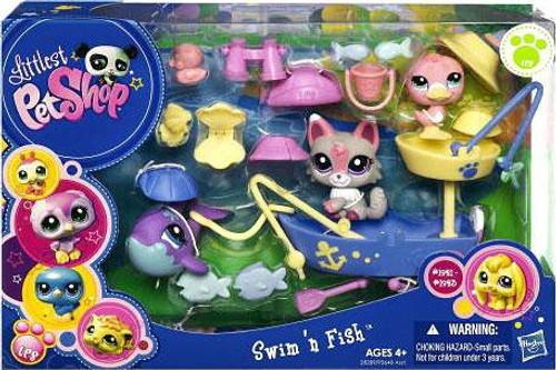 Littlest Pet Shop Swim 'n Fish Playset #1992, 1993, 1994, 1995, 1996, 1997