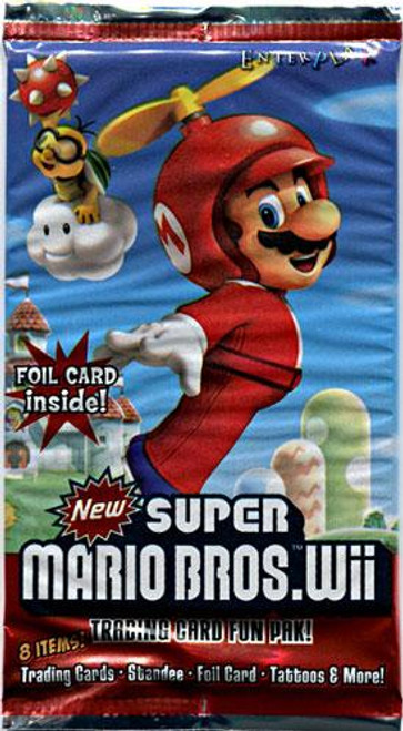 New Super Mario Bros Wii Trading Card Pack