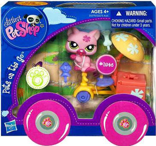Littlest Pet Shop Cat With Tricycle #1846 Figure