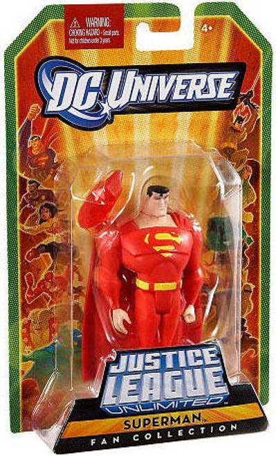 DC Universe Justice League Unlimited Fan Collection Superman Action Figure [Red]