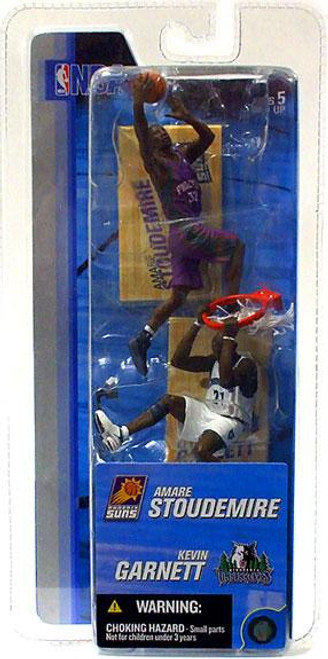 McFarlane Toys NBA Phoenix Suns / Minnesota Timberwolves Sports Picks 3 Inch Mini Series 2 Amare Stoudemire & Kevin Garnett Mini Figure 2-Pack