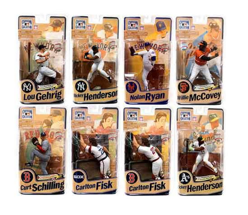 McFarlane Toys MLB Cooperstown Collection Series 8 Set of 8 Action Figures