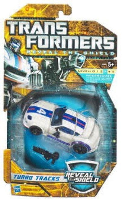 Transformers Reveal the Shield Hunt for the Decepticons Turbo Tracks Deluxe Action Figure [White]
