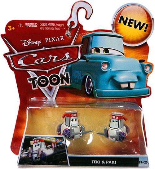 Disney Cars Cars Toon Main Series Teki & Paki Diecast Car #19 & 20