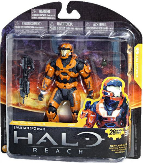 McFarlane Toys Halo Reach Series 3 Spartan JFO Exclusive Action Figure [Rust Orange]