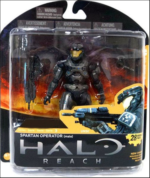 McFarlane Toys Halo Reach Series 3 Spartan Operator Exclusive Action Figure [Steel]