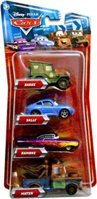 Disney Cars Multi-Packs Sarge, Ramone, Mater & Sally 4-Pack Exclusive Diecast Car Set