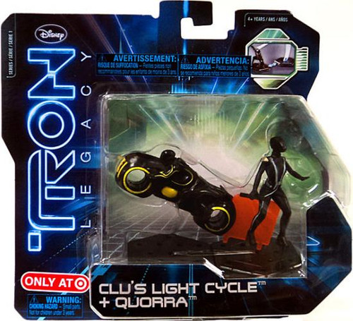 Tron Legacy Series 1 Clu's Light Cycle & Quorra Exclusive Figure 2-Pack