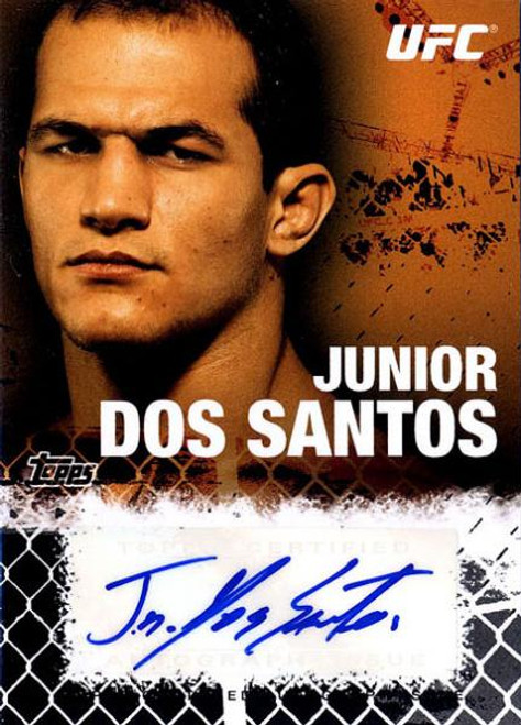 UFC 2010 Championship Junior Dos Santos Autograph Fighters & Personalities Autograph Card FA-JDS