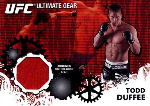 UFC 2010 Championship Ultimate Gear Relic Todd Duffee UG-TD