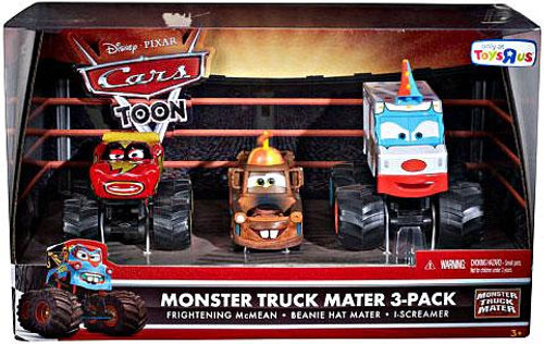 Disney Cars Cars Toon Multi-Packs Monster Truck Mater Exclusive Diecast Car Set [Set #3]