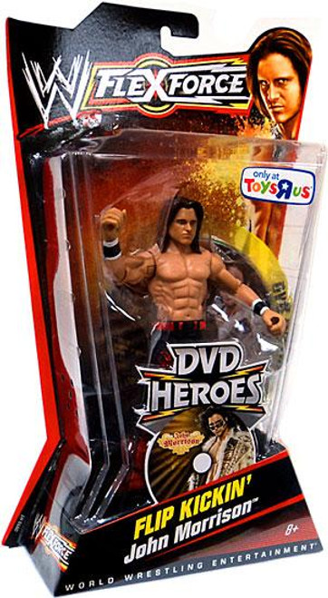 WWE Wrestling FlexForce DVD Heroes Series 2 Flip Kickin' John Morrison Exclusive Action Figure