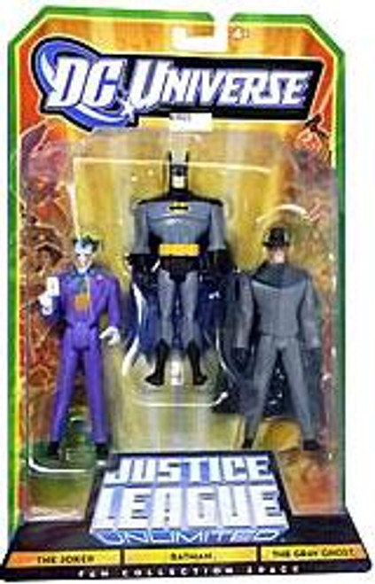DC Universe Justice League Unlimited Fan Collection The Joker, Batman & Gray Ghost Action Figures