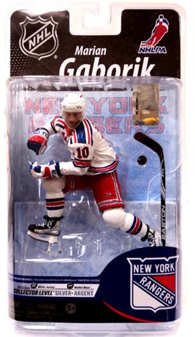 McFarlane Toys NHL New York Rangers Sports Picks Series 25 Marian Gaborik Exclusive Action Figure [White Jersey]